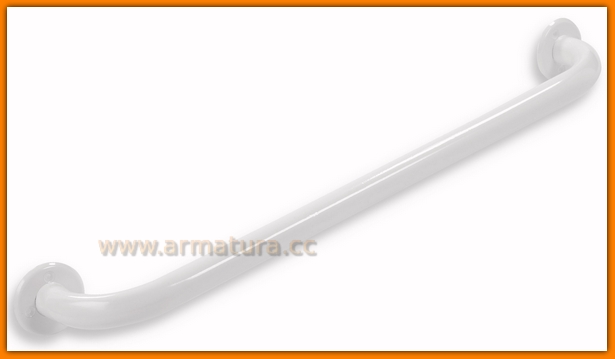 Uchwyt prosty pojedynczy łazienkowy biały METALIA Help FERRO R6630.11