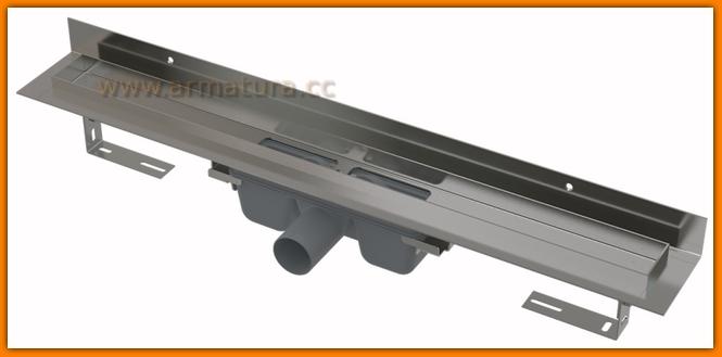 Odpływ liniowy APZ16-950 wall AlcaPLAST 75 cm Flexible odwodnienie liniowe z wygiętym kołnierzem