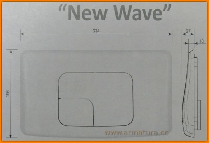 Przycisk WC ASTRA 350 Chrom Połysk K97-080 Cersanit Siamp