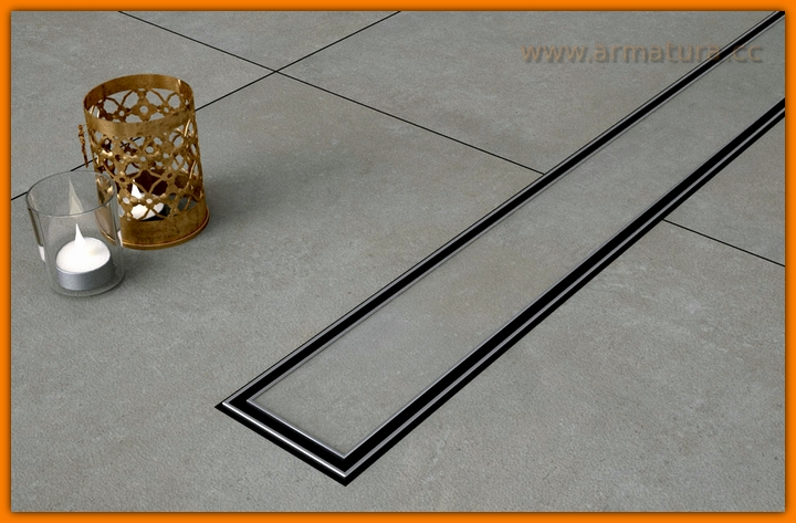 Odpływ liniowy pod płytki CERAMIK SANITLINE odwodnienie prysznicowe 90 cm