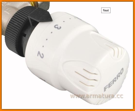 Głowica termostatyczna GT5 FERRO do zaworów termostatycznych