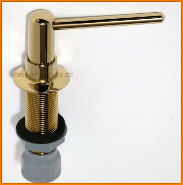 McALPINE HC20-GOLD Dozownik płynu mydła mosiądz ZŁOTY