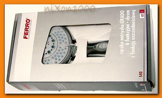 słuchawka natryskowa FERRO GRADO S40 rączka prysznicowa