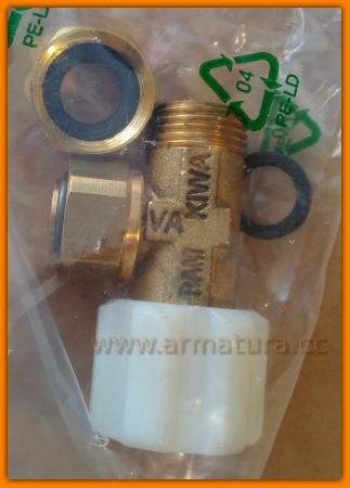 Zawór kątowy odcinający WC Cersanit K99-0095 Aqua/Astra/Target/Leon/Hiro